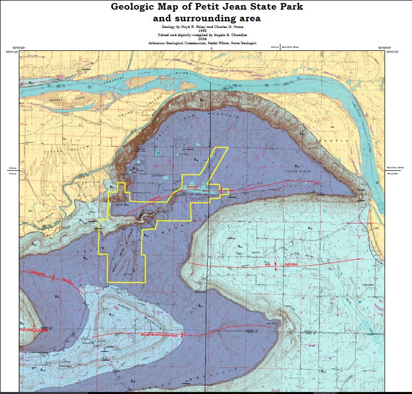 Petit Jean specific geologic map crop